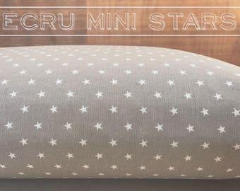 Dog Bed Cover, Stars Cover, Ecru Cover, Neutral Cover, Dog Bed Duvet, Pet Bed Cover, Cat Bed Cover