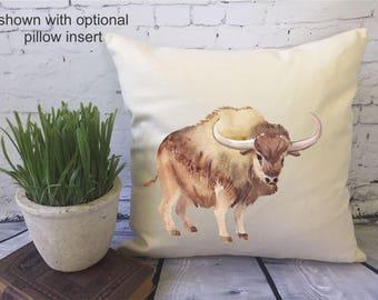 buffalo/ bison decorative throw pillow cover