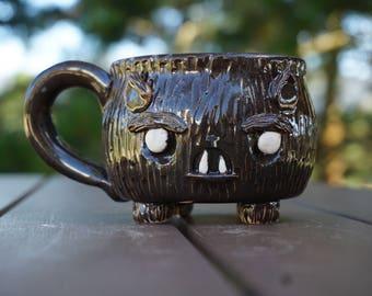 ceramic werewolf pup mug