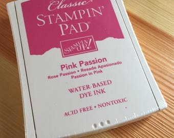 Pink Passion Stampin' Up Ink Pad - Water-Based Dye Ink - Brand New in Package - NIP Unopened