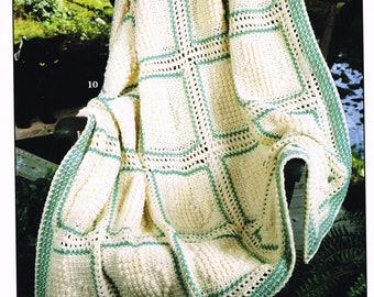 "Afghan ""Purr-fection"" crochet pattern book"
