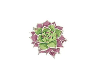 Succulent Plant Flower #2 Machine Embroidery File design 4 x 4 inch hoop Makes a great Patch