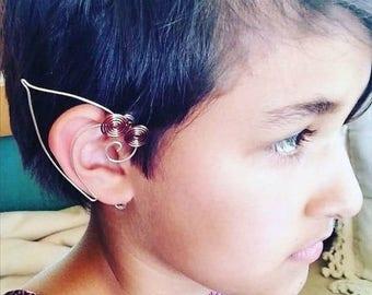 ON SALE Celtic Spiral Elf Ear Cuffs Pair Unisex Elf Ears