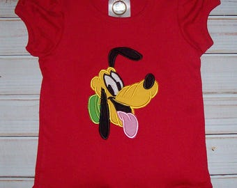 Sample SALE Pluto Bust Red Short Sleeve T-shirt size 3T - ready to ship--