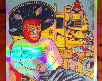 Puscifer FOIL VARIANT Luchador Maynard James Keenan Silk Screen Poster Gigposter Tool GIGART
