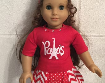 Doll clothes that fits the American girl Paris shirt