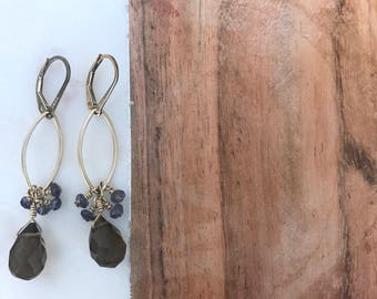 Clustered Drop Earring