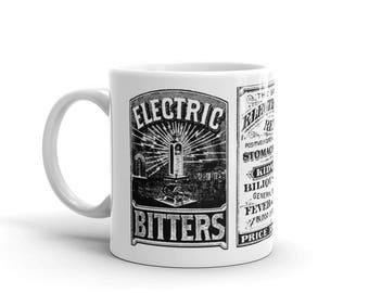 Electric Bitters Mug | Victorian Medical Advertising | Patent Medicine