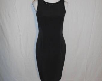 SALE 40% Off Vintage 80s 90s black silk floral short slip