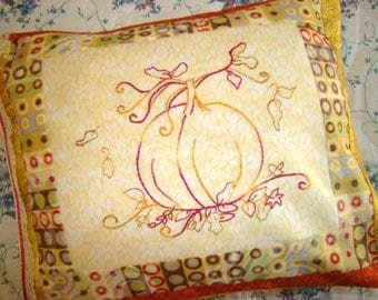 Pumpkin Hand Embroidery PDF Pattern Instant Digital Download