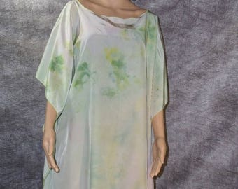 Silk green poncho one size fits all