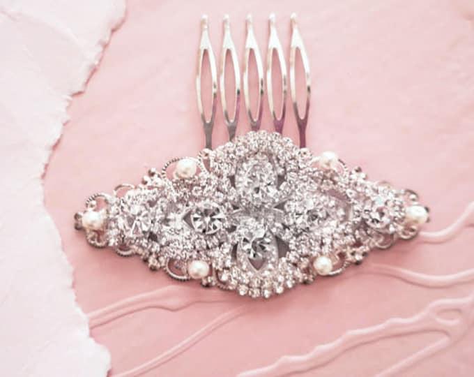 Glamorous Zirconia Bridal Hair Accessory Comb