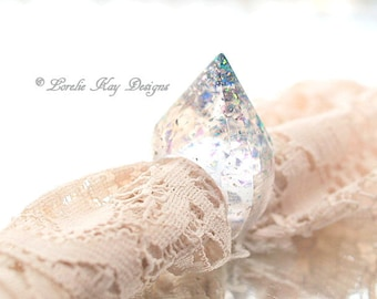 Resin Pyramid Ring Lucite Glass Look Cast Resin Ring Pointed Ring Lorelie Kay Original