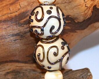 Lampwork  Art Beads by Jeanniesbeads #3053
