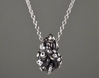 SALE Sale- Tentacle Knot Pendant, Sterling Silver