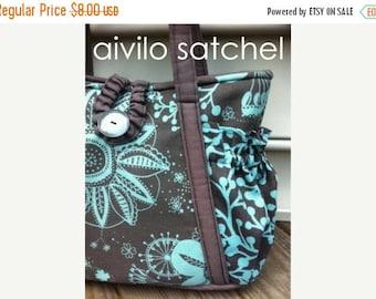 SALE Original Satchel tote bag- Easy PDF Sewing Pattern Instant Download - purse or diaper bag