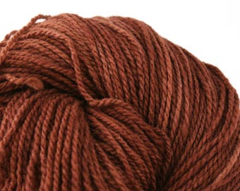 Mohonk Hand Dyed sport weight NYS Wool 370 yds/ 338 m 4oz/ 113g Cocoa