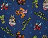Novelty fabric Muppets fabric Disney quilting quilt fabric baby fabric Fat Quarter Kermit Miss Piggy Sesame Street doll clothes baby shower