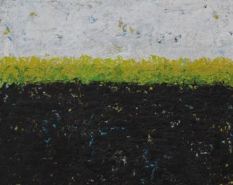 """Original Abstract Landscape Painting -- Driving By V  -- 6 x 6"""""""