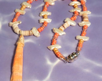 Lions Paw Shell Necklace #1