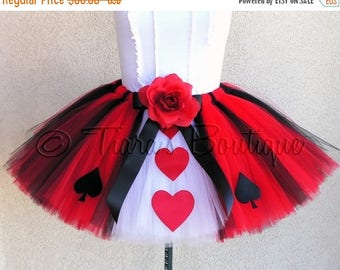 SUMMER SALE 20% OFF Halloween Tutu Costume - New Queen of Hearts Tutu - Adult Teen Juniors Tutu - Custom Sewn Tutu