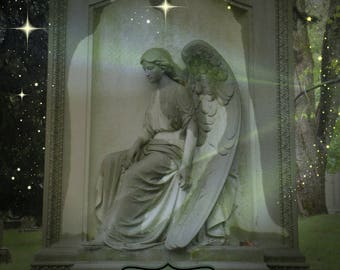 Angel Blessings large frameable card