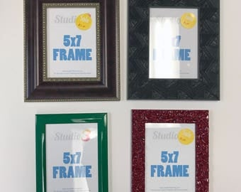 SALE! Lot of 4 Colorful Photo Frames - Fits a 5x7 Photo