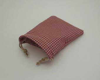 Handmade Reusable Cloth Country Red Gift Bag - Small