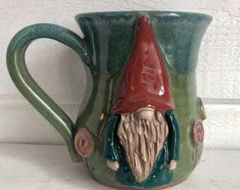 Flower Pop Gnome Mug