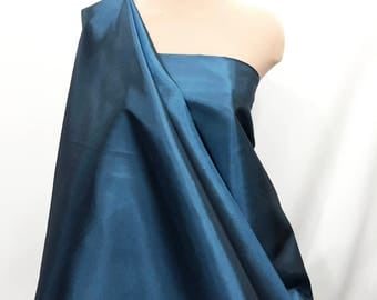 """Cationic Taffeta Fabric  60"""" Peacock 065 ..lining..dresses...wedding...formal ...home decor. pageant.. pillows, bows"""