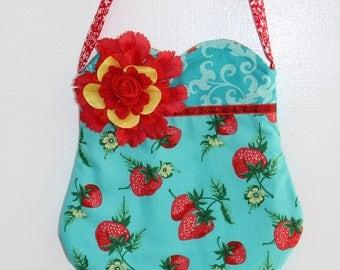 Juicy Strawberry purse, girls purse, toddler purse,