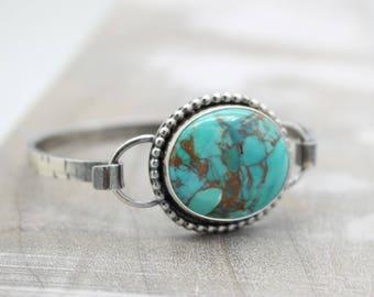 Turquoise Sterling Silver Bangle Bracelet