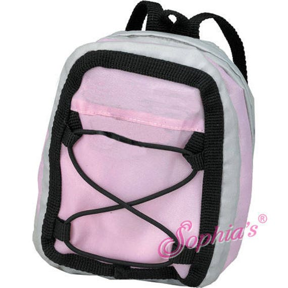 Light Pink & Gray Sporty Nylon Backpack - 18 Inch Dolls