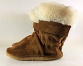 Soft Sole Fur Trim Leather Infant Winter Baby Boots 12 to 18 Month