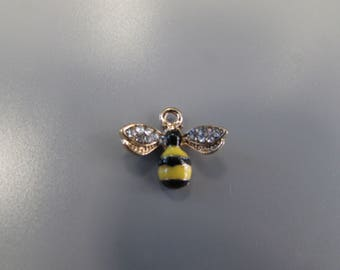 Bee Charm with Diamante Wings