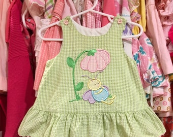 Gingham Butterfly Dress 9/12 Months