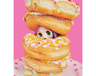 donut blythe print 5 x 7 DOUGHNT EAT ME