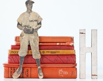 Vintage Baseball Player Photograph, Cut Out, Solon