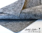 Smokey Marble Wool Felt, Merino Wool Blend Felt, Wool Blend Felt, Wool Felt Yardage, Wool Felt Fabric, Gray Felt Fabric, Gray Felt Yardage