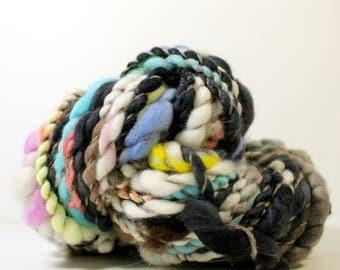 winterborne .. art yarn, hand spun yarn, handspun art yarn, wool yarn, boucle yarn, bulky yarn, handspun wool yarn