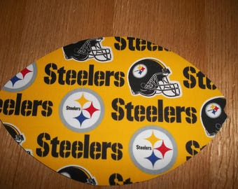 NFL Mouse Pad Pittsburgh Steelers Gift Desk Accessory MousePads Office Decor Handmade Football Rectangle Shape Computer MousePad Fathers Day