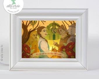 Wizard of Oz shadowbox nightlight diorama (light & dark skin tones available)