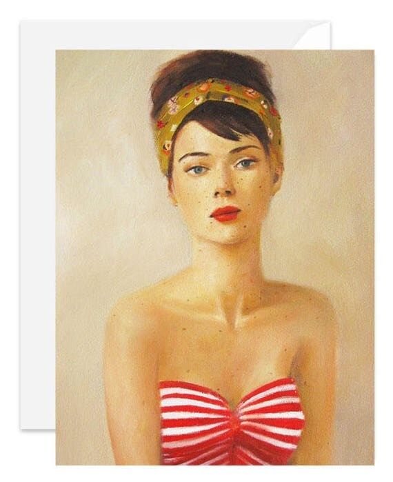 Freckle Face. Blank Card. SKU 1159
