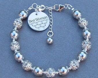 Best Woman Gift, Best Friend Bracelet, Friendship Jewelry, Galentines Day, BFF, Best Gal