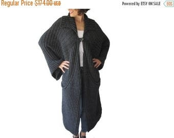 20% WINTER SALE Maxi Coat Cardigan with Big Pockets by Afra Plus Size Over Size