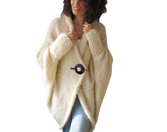 Cream Wool Cardigan