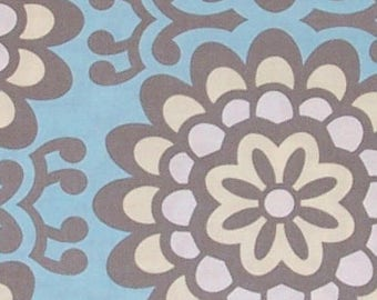 HALF YARD - Amy Butler Fabric, Lotus Collection, Wallflower in Sky Blue, cotton quilting fabric -  SALE