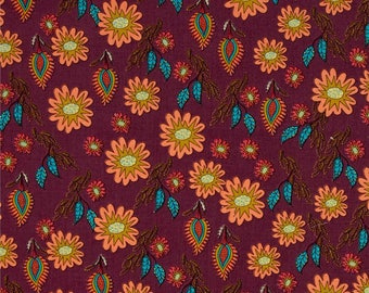 FAT QUARTER - Kathy Doughty, Flock Together, Field of Flowers in Contemporary, Floral, cotton quilting fabric