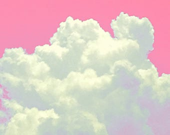 Cotton Candy Clouds - Dreamy Pink Sky - Heaven - Original Color Photograph by Suzanne MacCrone Rogers