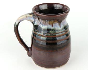Stoneware Mug - 13 oz. - Coffee Cup - Black/brown, White